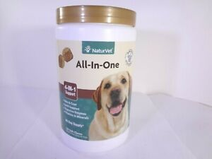 NaturVet All-In-One 4-in-1 Support 120 Soft Chews for Dogs 16.9 oz 23-N