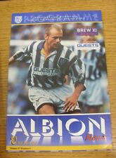07/10/1995 West Bromwich Albion v Reading  (Creased, Team Changes). Thanks for v