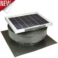 Attic Exhaust Fan Solar Powered 365 CFM 5W Roof Mounted Vent Cooling Ventilator