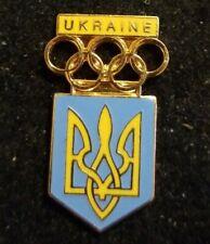 Ukraine Olympic Team NOC 1990s  Generic Hat Lapel Pin