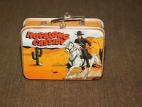 "2000 3 1/4"" X 2 1/4"" HALLMARK MINI HOPALONG CASSIDY METAL LUNCHBOX & THERMOS"
