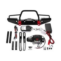 Front Bumper LED Lamp Winch Controller Receiver Kit for RC TRAXXAS TRX-4