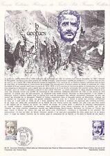 Document philatélique 09-78 1er jour 1978 Georges Bernanos Ecrivain