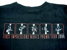 THE STROKES mens S t shirt 2006 concert FIRST IMPRESSIONS WORLD PROMO TOUR