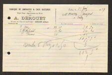 "CULAN (18) BRASSERIE / FABRIQUE de LIMONADE & EAU GAZEUSE ""A. DEROUET"" en 1929"