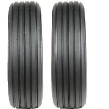 Two New 4.00-12 Carlisle Rib Tires & Tubes fit US Army M3A4 Utility Hand Cart