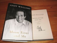 ANDY WILLIAMS signed MOON RIVER AND ME 2009 1st Ed Book COA