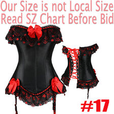 SEXY Steel Busk Lace Up Waist Training Corset Dress Steampunk Plus SIZE S-6XL ML