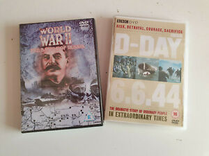 """2 x DVD. BBC D-Day 6.6.44 and World War II """"The Battle of Russia"""" - Sealed"""