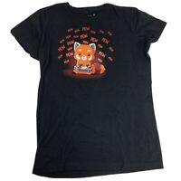 Pew Pew Pew Playing Video Games Tee Turtle Youth T-Shirt Size XL