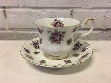 Vintage Royal Albert English Porcelain Sweet Violets Cup & Saucer