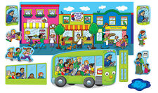 Wheels on The Bus Go Round felt figures flannel board stories + Lesson Guide
