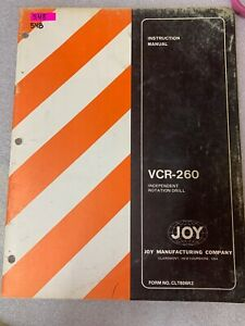 VCR-260 Joy Independent Rotation Drill Instruction Manual #548