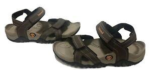 Timberland Men's Granite Trail/hiking Medium Brown Leather Strap Sandals