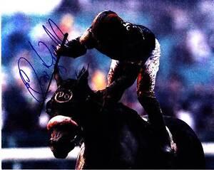 ELVIS TRUJILLO SIGNED 8X10 PHOTO HORSE RACING JOCKEY BREEDERS CUP MARYFIELD #1