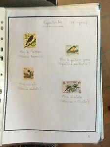 Timbres thème Oiseaux - Passeriformes n* Mh ou obl - 6 timbres (LEO1)