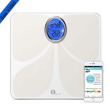 1byone Digital Bathroom Body Fat Scale LCD Tempered Glass BMI Measure Scale