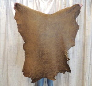 Waxy BOMBER BROWN Leather Hide for Native Crafts Buckskin Purses Journal Covers