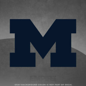 """Michigan Wolverines M  Logo Vinyl Decal Sticker - 4"""" and Up - More Colors!"""