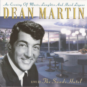CD AUDIO ALBUM DEAN MARTIN - LIVE AT THE SANDS HOTEL PLATCD 575