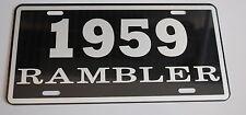 METAL LICENSE PLATE 1959 59 RAMBLER NASH AMC AMERICAN MOTORS 660 440