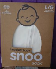 Happiest Baby SNOO Sleep Sack- New in Box 100% Organic Cotton White Large 18-25