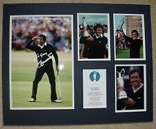 Seve Ballesteros-golf Legend-Original Firmado Foto Montaje-con loa