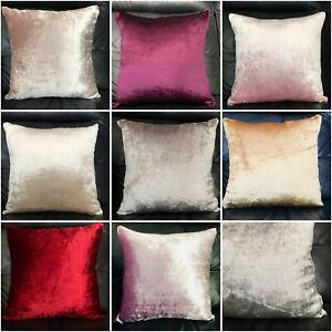 Cushion large plain velour heavy shiny crushed velvet cushion covers or cushion