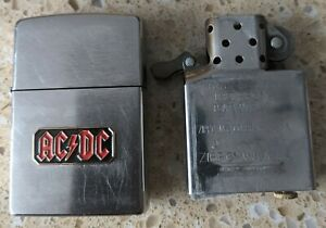 Original Zippo Chrome Lighter -Customised for AC/DC, ACDC -used