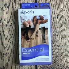 Sigvaris Womens Large 862C Short Knee-High Essential Opaque Graduated Compressio