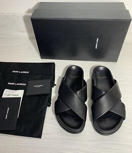 Saint Laurent YSL Women's Slides Slippers Sandals Shoes Size UK 8 IT 41