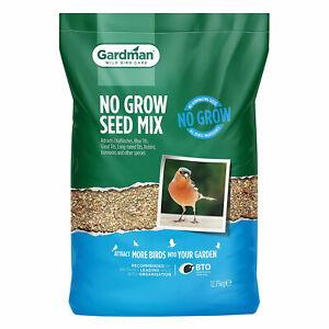 Gardman No Grow Seed Mix for Wild Birds 12.75kg Natural Seed Suet Food Blend