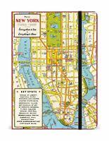 Cavallini - Grande Foderato Notebook 15.2x20.3cm - New York City Mappa - 144