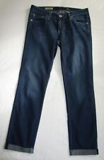 $225 AG JEANS Stilt RollUp Cigarette Dark Wash Distressing ANTHROPOLOGIE Yoox 27
