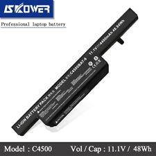 SKOWER 4400mAh 11.1V C4500BAT-6 Battery for Clevo C4500 6-87-C480S-4P4 Series