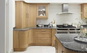 Broadoak Shaker Kitchen in Natural Oak, Rigid Built, Modern Kitchens