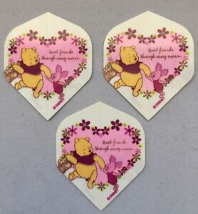 Set of 3 Std Standard Darts Flights Fun Winnie The Pooh 75 Micron