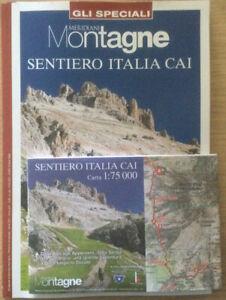 Rivista Speciale Meridiani Montagne Sentiero Italia Cai + Cartina