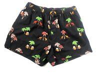 Ringers Western Size 8 Women Cotton Summer Shorts Black Aussie Print