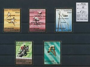 LO17134 Togo 1976 gold foil sports olympics fine lot MNH cv 75 EUR