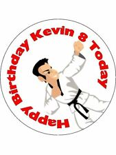Karate Hobbies Engagement Personalised Stickers 35 x 37mm Birthday Party Gift 56