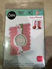 Sizzix Framelits Die Set Card, Circle Flip-its #2 559171 11 Dies NEW