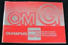 OLYMPUS OM-G SLR 35mm CAMERA OWNERS INSTRUCTION MANUAL -OLYMPUS OMG