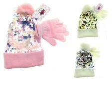 OMG Girls Hat and Glove Set Winter Casual One Size
