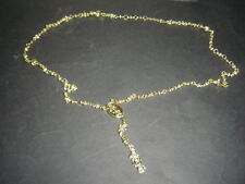 ROSARIO DE METAL DORADO SANTA MUERTE rosary con mini calaveritas FREE SHIPPING