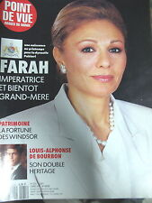 POINT DE VUE N° 2275 IRAN IMPERATRICE FARAH REZA PAHLAVI WINDSOR BOURBON 1999
