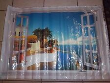 NEW - Mediterranean Window Water View - Wall Decal Stickers Wallies - Removeable