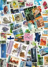 Finland Kiloware Recently Over 100 Different Used Pictorial Stamps On Paper