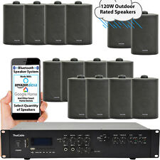 Outdoor Bluetooth Stereo Sistema – 120W Nero Impermeabile Casse – Giardino Audio