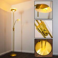 Lampada Terra Piantana Metallo Ottone Vetro Luce Dimmerabile LED Design Salotto